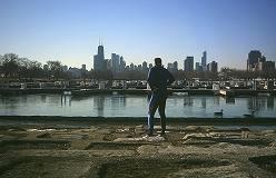 Lincoln Park, i baggrunden Chicago skyline