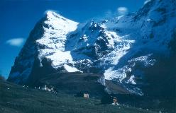 The notorious North Face of the Eiger, as seen from Wengernalp