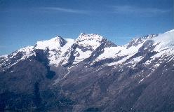 Fletschhorn og Lagginhorn set fra Längflue