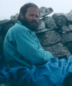 Foto taget 1989 i en bivuak under Aiguille du Géant, Montblanc