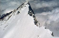 Nordend set fra toppen af Dufourspitze