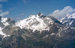 Platthorn med Mettelhorn i baggrunden, set fra Unter Gabelhorn SE-grat