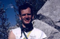 Kim Sejberg under klatring på St-Julien i Provence