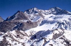 Klein Bigerhorn, Gross Bigerhorn og Balfrin set fra Riedgletscher