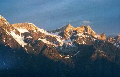 Barrhorn - et meget karakteristisk bjerg oven for Herbriggen