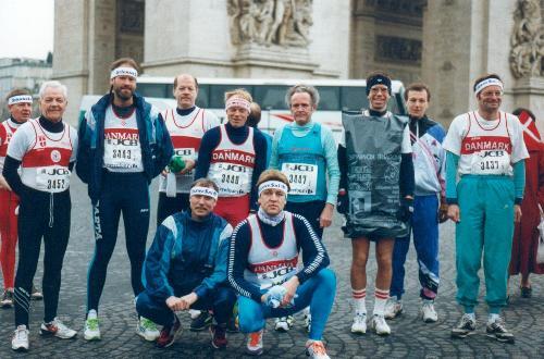 Med de andre spartanere i Paris for at løbe marathon