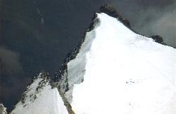 Punta Giordani set fra toppen af Piramide Vincent