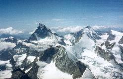 Wellenkuppe og Ober Gabelhorn set fra Zinalrothorn