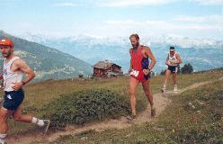 1993: Nær Tignousa, en af de lettere strækninger på Sierre-Zinal