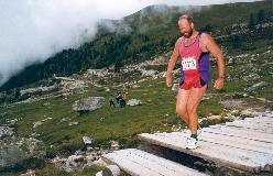 1996: Nær Chalet Blanche, ved starten af den sidste stigning op mod Hotel Weisshorn.