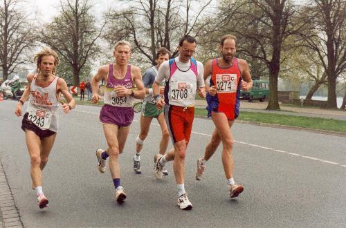 På vej mod km 40 under Hannover Marathon