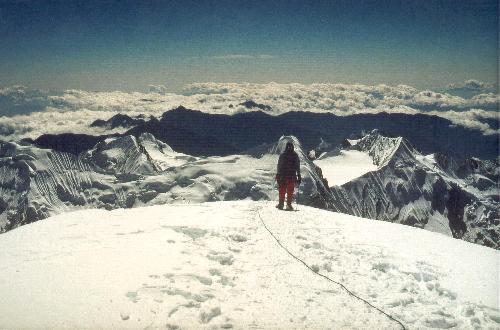 De sidste meter til toppen af Mera