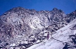 Mammouth set fra ovenfor Cabane du Mountet