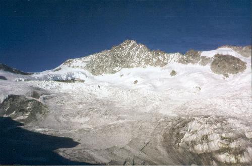 Zinalrothorn set fra Cabane Mountet (2886m) den 28.07.91