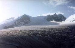 Bishorn og Weisshorn set fra omegnen af Cabane de Tracuit