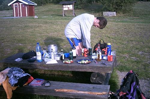 Lejrpladsen ved Bjäveröd har alle faciliteter både dag og nat, her ved et besøg i 2003.