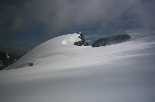 Højeste punkt på Bouquetins set fra Glacier de Moiry