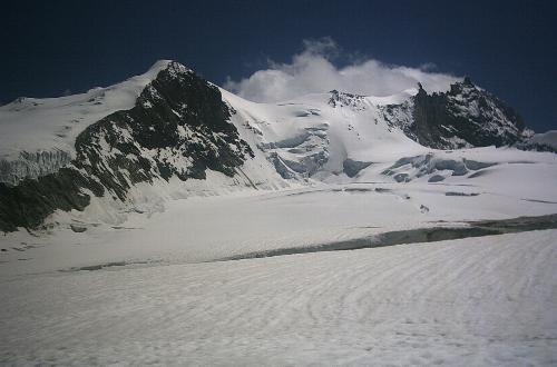 Bishorn og Weisshorn set fra Turtmanngletscher