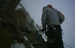 På vej mod toppen af la Tresenta
