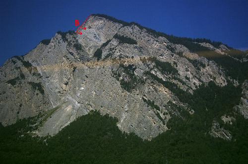 La Crevasse set fra Sembrancher