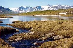 Udsigt mod Sylarna fra  Storulvån. Foto: anasys.se