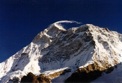 Makalu as seen from basecamp Tengma