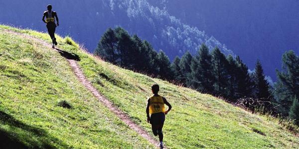 I nærheden af Chandolin bliver stigningen mindre og der bliver frit løb