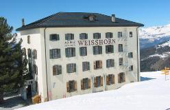 Hotel Weisshorn ved vintertide